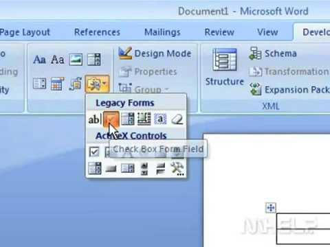 How to Create a checklist in a document for Microsoft Word