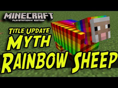 Minecraft (PS3, PS4, Xbox, Wii U) - Rainbow Sheep - Title Update Myths
