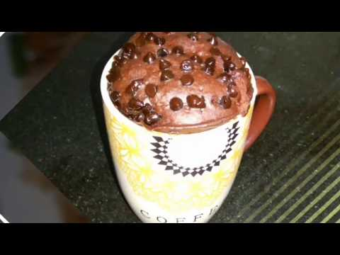 How to make mug cake in microwave in Hindi- 2 minute eggless chocolate mug cake in microwave (SUB)