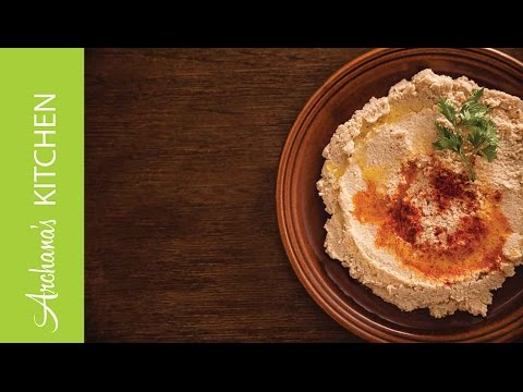Roasted Red Pepper Hummus (Middle Eastern Dip) by Archana's Kitchen