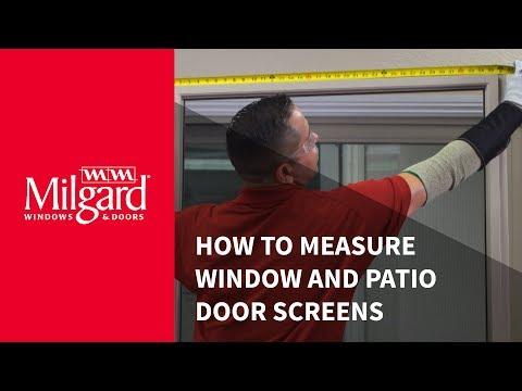 How to Measure Window and Patio Door Screens