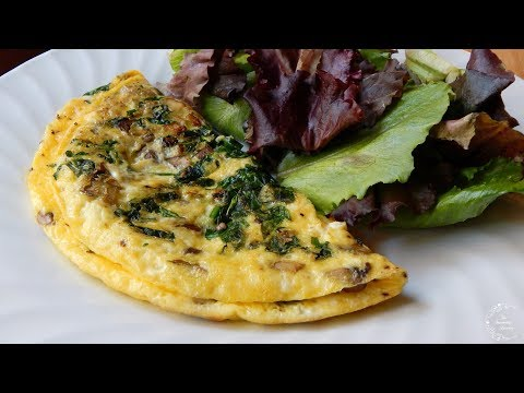 Spinach Mushroom Omelette Recipe | The Sweetest Journey
