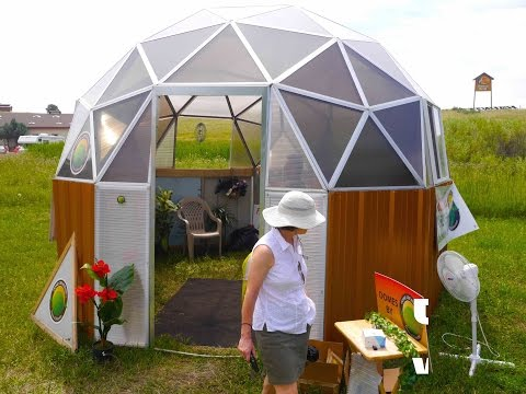 EASY to erect DOME KITs as Tiny Houses, Studios, and Green Houses