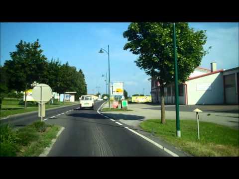 The border of Austria and Hungary at Heiligenkreuz : Sicily to Ukraine by camper van part 62