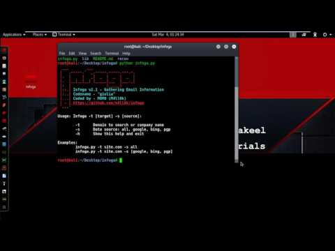 Collect Email Address user Information on Kali Linux 2016 2 ✔    Infoga   Email Collector 2017