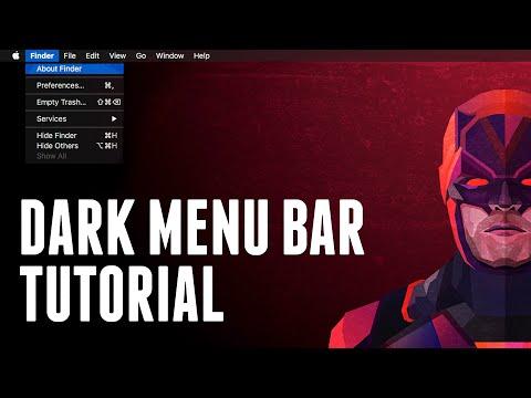 How To Make The Menu Bar And Dock Dark