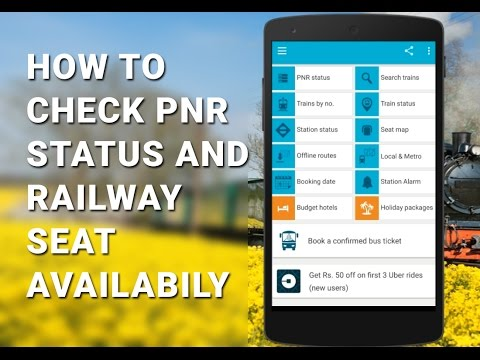 check railway pnr status seat availability in mobile