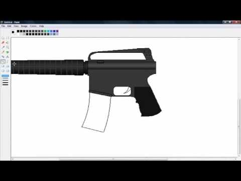 Drawing an M16A2 in MS Paint