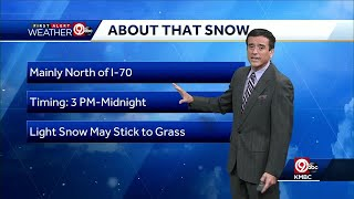 First Alert: Cold, A Few Snowflakes Possible Sunday