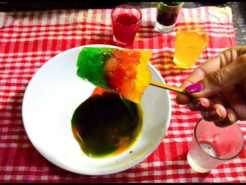 Ice Gola Recipe | Crushed Ice Lollypop | Indian Street Food Homemade Ice Gola - Bengali #316