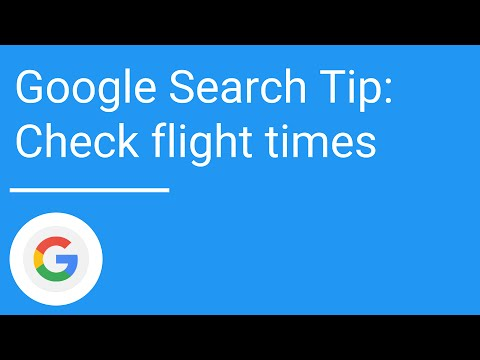Google Search Tip: Check flight times