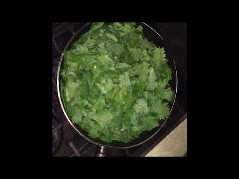 Harvesting Kale And Cooking Sauteed Garlic Kale With Sesame Seeds And Soy Sauce