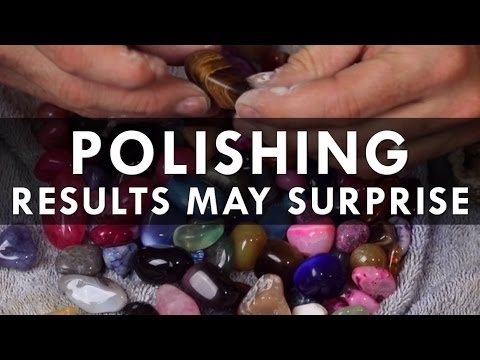 Can you polish rocks with a wet stone?