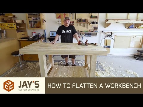 How To Flatten A Workbench Top With Hand Planes - 248