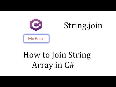 Join String Array in C# with Commas using String.Join() Method