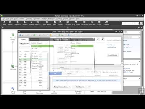 08 05 Setting Up The Currency List | Quickbooks pro 2013