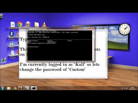 How To Change The Password Of Another User Using Command Prompt (HD)