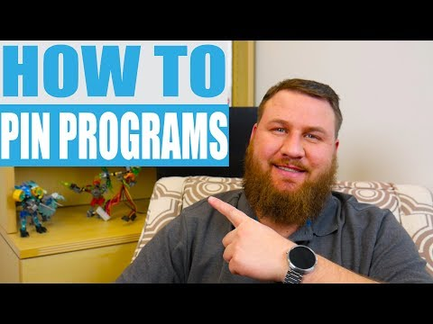 How to Pin Programs to Your Start Menu and Taskbar. 2018