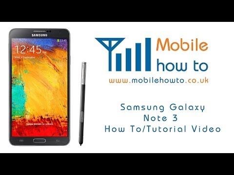 How To Set A Password -  Samsung Galaxy Note 3