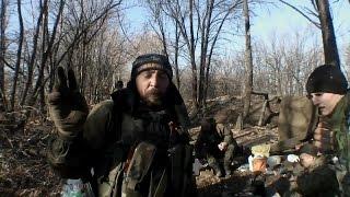 Доброволец из России воюет на Донбассе против укро-фашистов. Ополчение Новороссии.