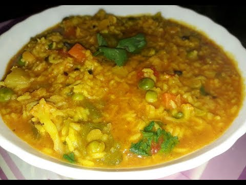 Vegetable Masala khichdi/How to make Khichdi without onion & garlic