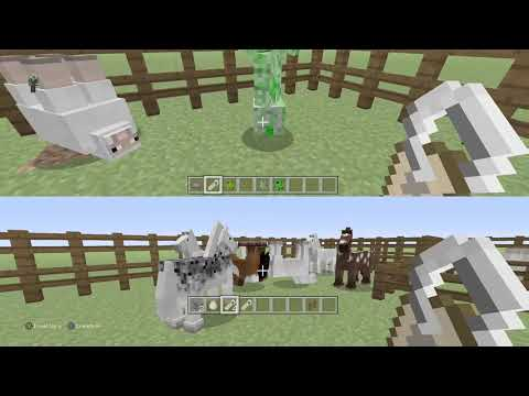 EASY How to:UPSIDE DOWN Animals in Minecraft