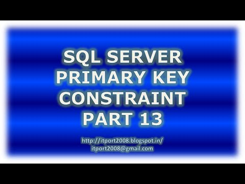 Create, Alter, Drop Primary key constraint in SQL Server - Part 13