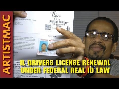 Drivers License Renewal in Illinois Under the Federal RealID Law