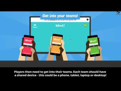 How to launch a game of kahoot in Team Mode
