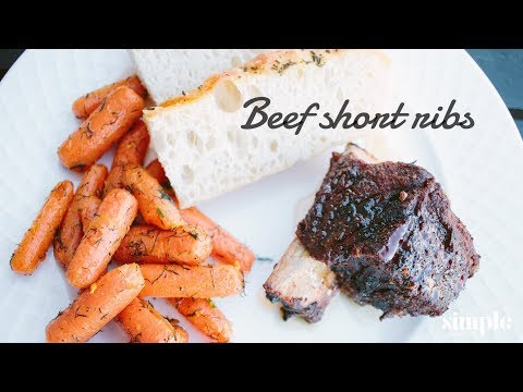 BBQ Beef Short Ribs - Slow Food Sundays - on a kamado grill
