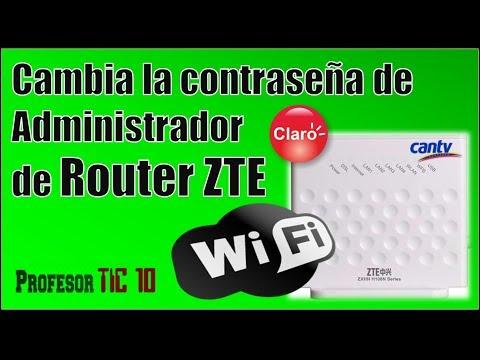 Cambiar contraseña de administrador Modem/Router ZTE Change administrator password Modem/Router ZTE