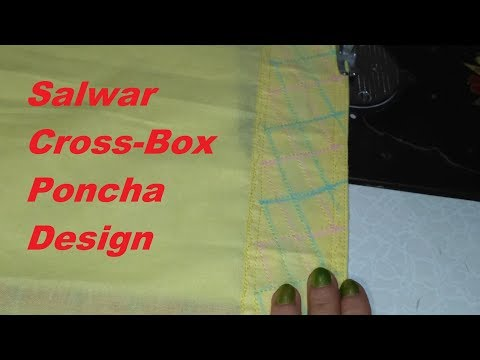 Easy Cross- Box Salwar Poncha Design/Salwar poncha