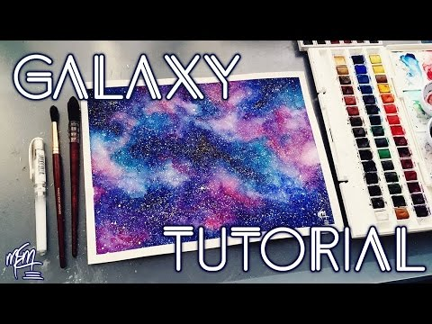 HOW TO PAINT A WATERCOLOUR GALAXY | Tutorial (Updated)