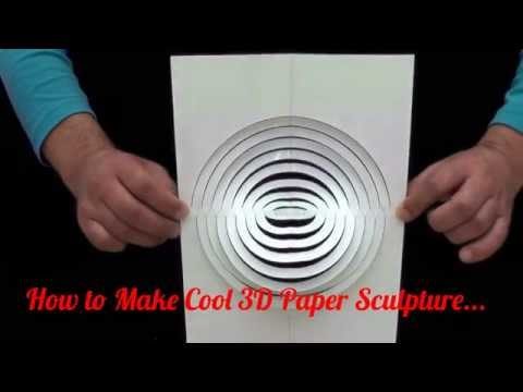 How to Make Cool 3D Paper Sculpture...