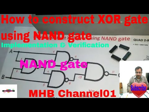 How to construct XOR gate using NAND gate