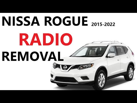 How to Remove Radio Head Unit on Nissan Rogue 2013 2014 2015 2016