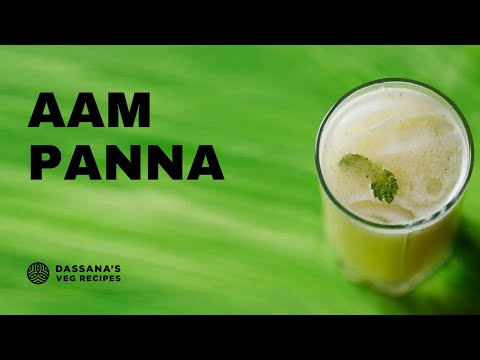 aam panna recipe - how to make aam panna recipe with roasted mangoes
