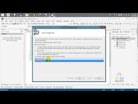 Export Opencv Project As A Template - Visual studio 2012 or later