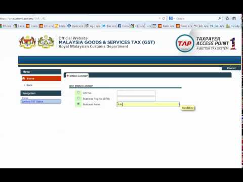 Verification of GST Registration No