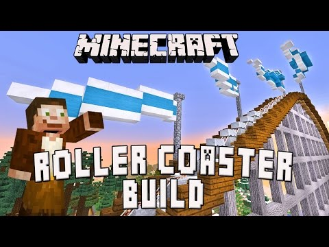 Minecraft:  Powered Rail Lift Hill And Flag Design Tutorial  (Scarland Roller Coaster Build Ep.22)