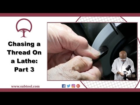 Chasing a Thread On A Lathe Pt. 3  - Grinding The Cutting Tool