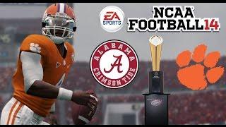 ALABAMA vs CLEMSON NATIONAL CHAMPIONSHIP!! - NCAA Football 2014