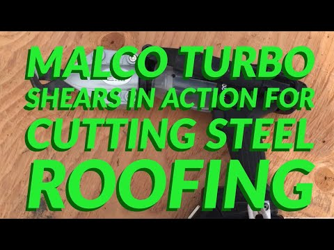 Malco Turbo Shear Cutting Steel Roofing Siding For Your Drill