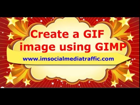 Create an animated GIF image for your website using GIMP