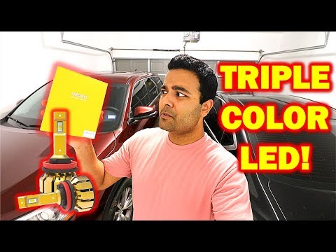 AWESOME Triple Color LED Headlight! (All Weather Conditions)