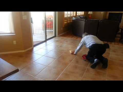 Grout color sealing in under 2 min.  The Turbo-Stick way