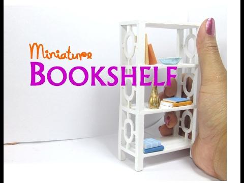 DIY Easy Bookshelf Dollhouse Furniture Miniature