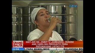 UB: May-ari ng Jimmy's lambanog, ininom ang sariling produkto para patunayang ligtas ito