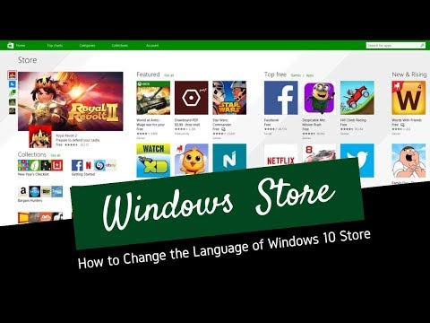How to Change the Language of Windows 10 Store