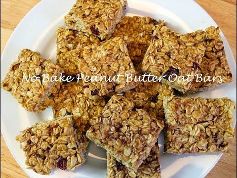 No Bake Peanut Butter Oat Bars Recipe